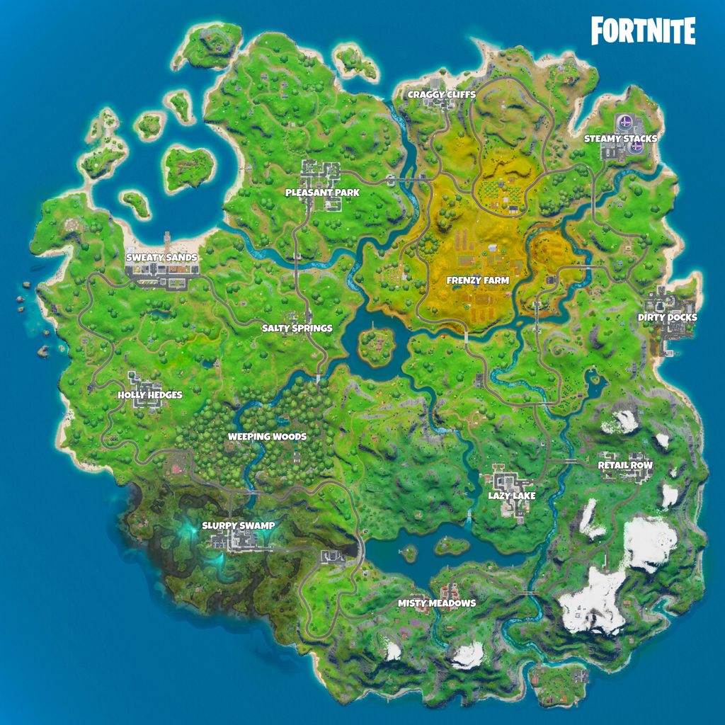 New Locations in Fortnite Chapter 2 Map on